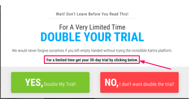 Double Your Trial