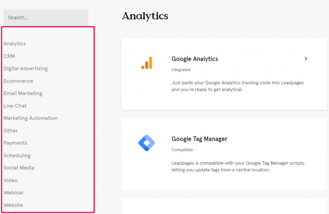 Leadpages - Integration
