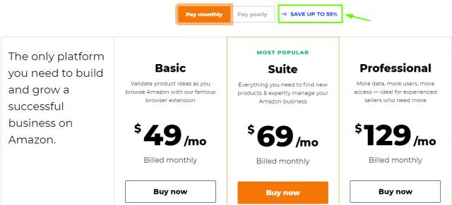 Jungle Scout - Pricing